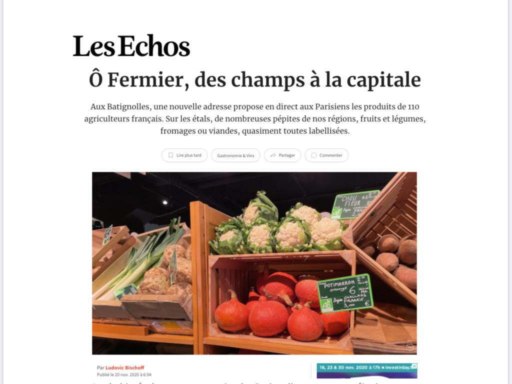 Article de presse Les Échos Week-end