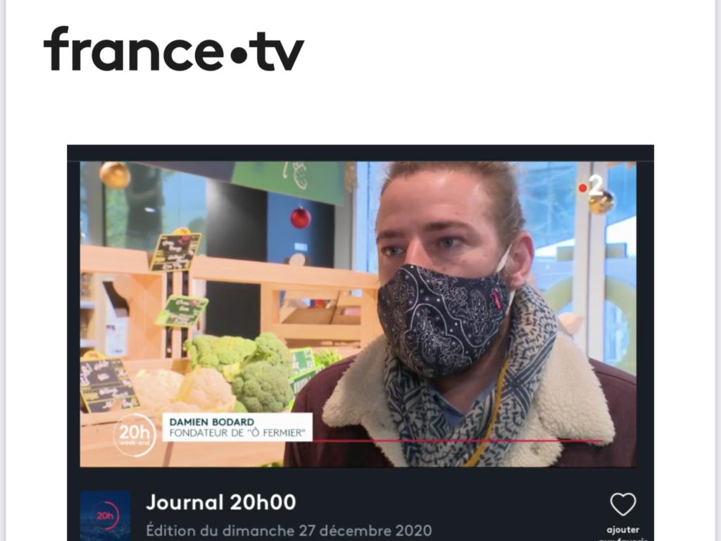 Interview de Damien Bodard, fondateur d'Ô FERMIER par France Télévision